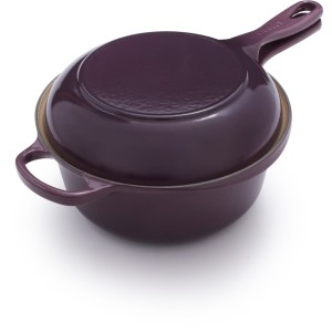 purple le creuset